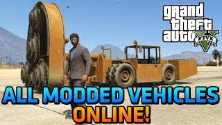 GTA 5 Online - EVERY MODDED VEHICLE Online! (Hvy Cutter, Clown Van, Pink Jets & More!)