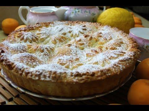 Летний творожный пирог с абрикосами и нектаринами
