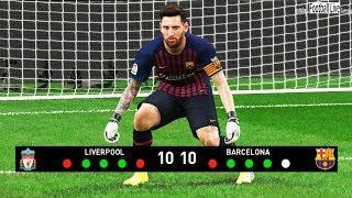 PES 2019 | goalkeeper MO SALAH vs goalkeeper L.MESSI | Penalty Shootout | Liverpool vs Barcelona