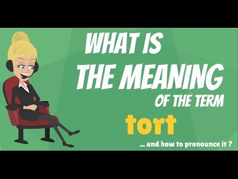 What Is Tort What Does Tort Mean Tort Meaning Definition