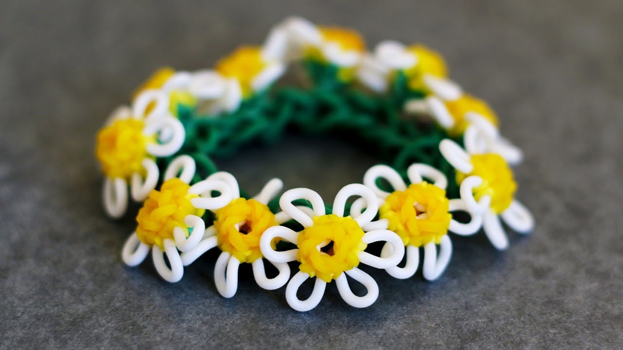 Rainbow Loom Macro Daisy Flower Tutorial Part 2 Youtube