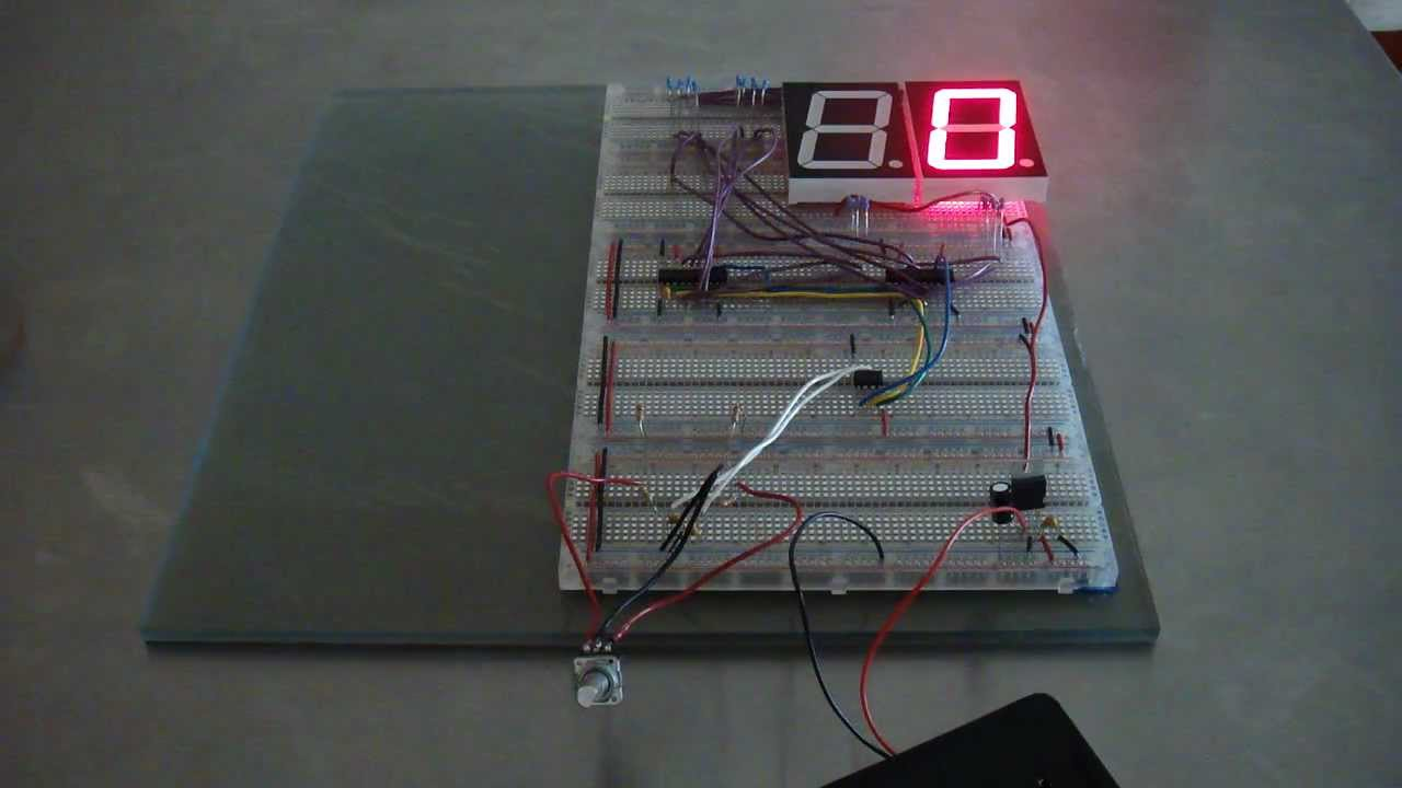 cornhole score keeper using attiny [ 1280 x 720 Pixel ]