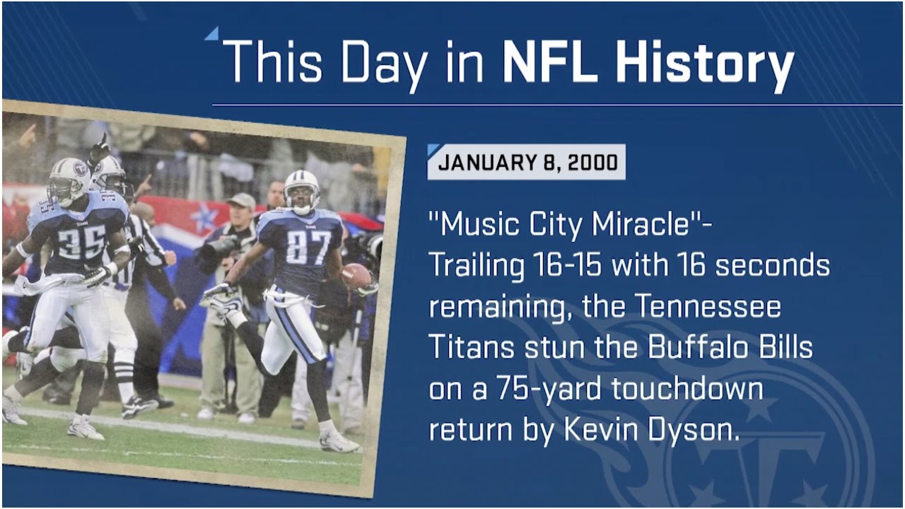 The Music City Miracle This Day In Nfl History 1 08 00 Nfl Youtube