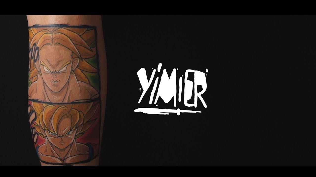 Dragon ball tattoo broly goku yimier youtube for Eight ball tattoo removal