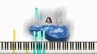 Regina Spektor - Laughing with [#reggiewatkins piano synthesia tutorial]
