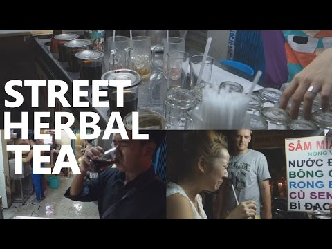 DISGUSTING Street Food Drinks: Nasty Herbal Tea in Saigon, Vietnam