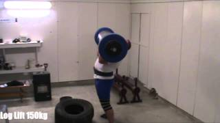 Log Lift: 150kg fail