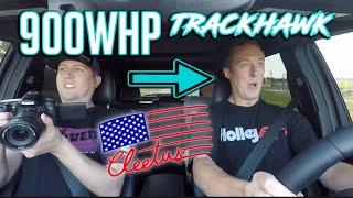 Cleetus drives my 900hp Trackhawk (I think
