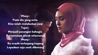 Wany Hasrita & Tajul - Rindu Dalam Benci (Official Minus One/Karaoke & Lyrics)