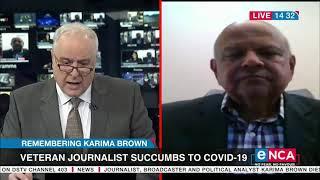 Minister Pravin Gordhan Pays Tribute To Karima Brown