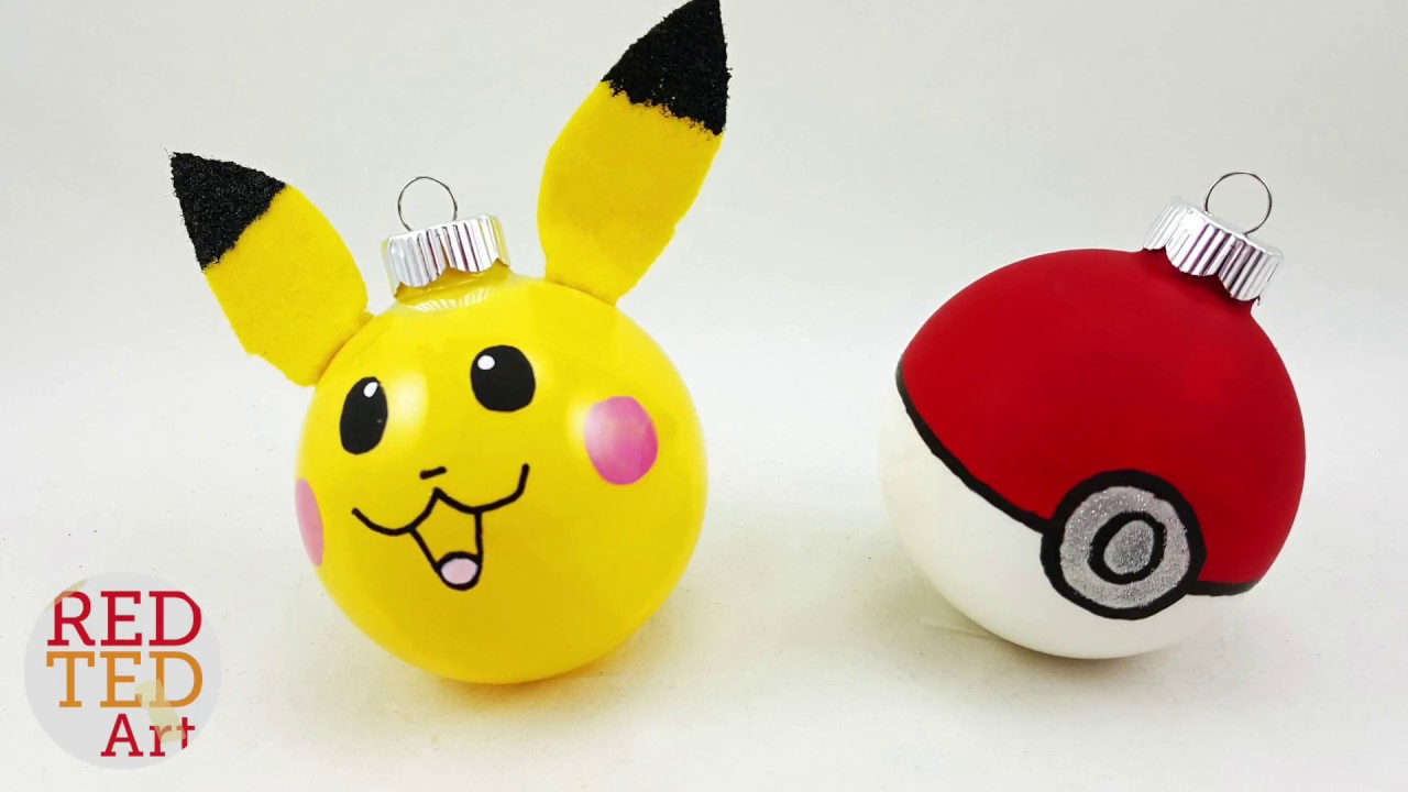 Pikachu Christmas Ornament.Easy Pikachu Ornaments Pokemon Diy For Christmas Easy Diy Ornaments