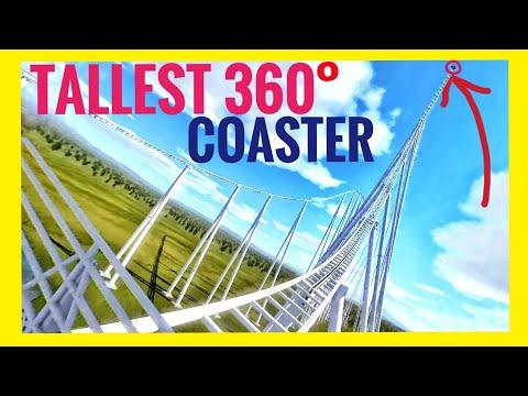 Highest VR 360° Roller Coaster In 8K - POV 360 3D Videos Split Screen Virtual Reality