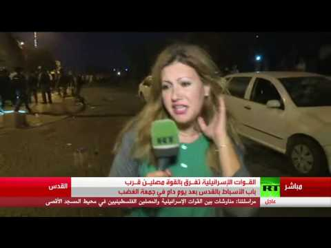 فيديو.. تعرض مراسلة RT لاعتداء من قبل جنود إسرائيليين في باب الأسباط