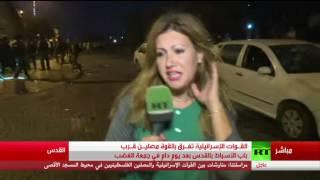 بالفيديو| جنود إسرائيليون يعتدون على مراسلة قناة
