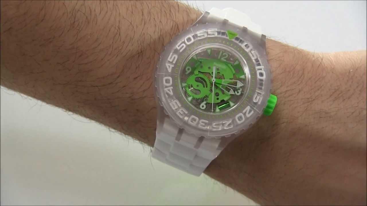 Swatch scuba libre chlorofish watch review youtube - Swatch dive watch ...