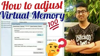 How to adjust virtual memory