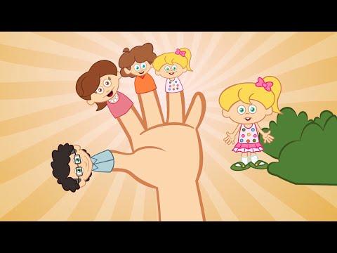 A familia Dos Dedos (Fingers Family) em Portugues   + outras 6 musicas infantis - 17minutos