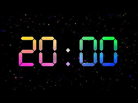 COUNTDOWN 20 Min ( V 673 ) RELAX - Timer With Music 4k