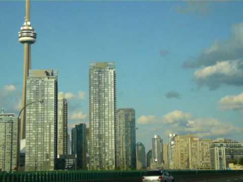 Driving into Toronto on QEW