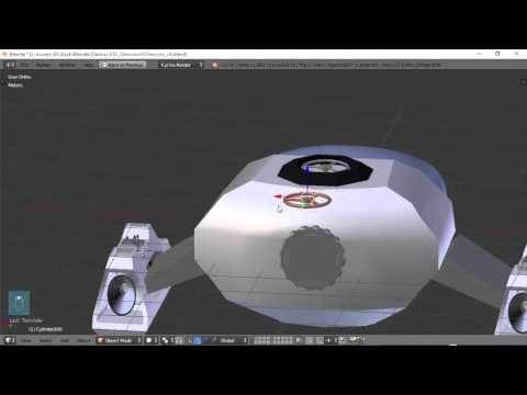 Blender For Noobs - Spaceship tutorial - Part 9 of 12