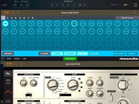 ROZETA - CELLS Polyphonic Step Sequencer - Tutorial for the iPad
