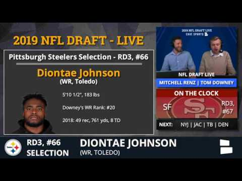 Diontae Johnson Picked By Steelers With Pick #66 In 3rd Round of 2019 NFL Draft - Grade & Analysis