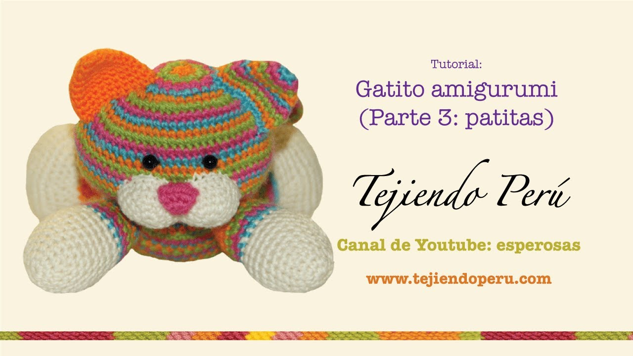 Tutorial Gato Amigurumi Cat (1-2) (English subtitles) - YouTube | 720x1280