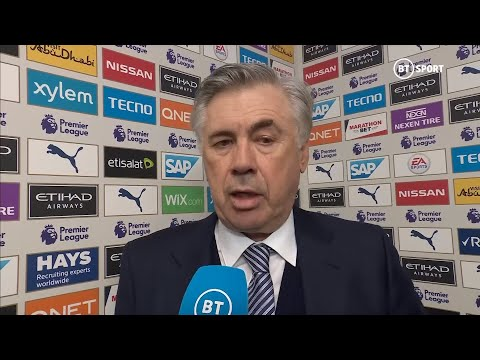 """""""Man City deserved to win, we were too shy."""" Ancelotti on first defeat as Everton boss"""