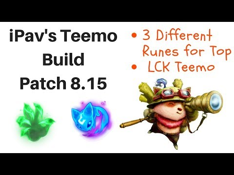 iPav's Teemo Guide [patch 8.15]