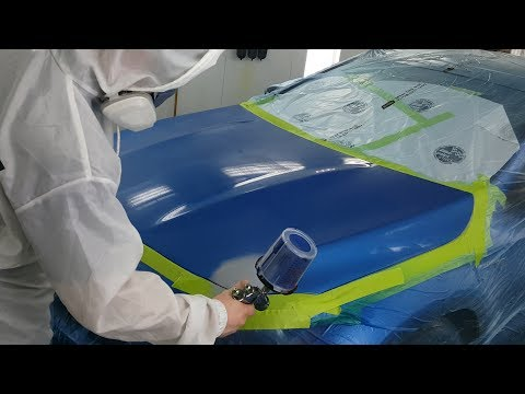 Blending Paint on a Hood