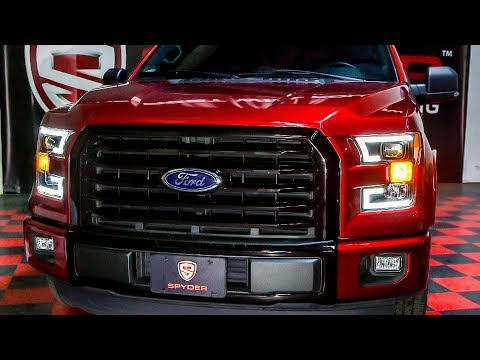 Spyder Auto How to Install: 2015-2016 Ford F150 Headlight with LED Switch Back Light Bar