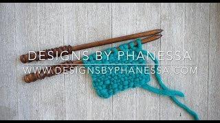 Knit Linen Stitch Tutorial
