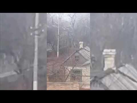 Тушение пожара в Торецке