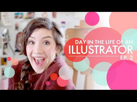 Day in the Life of an Illustrator | Episode 2 | Painting, Etsy, Thank Yous and Stamp Collecting