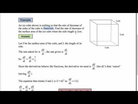 AS Mathematics for CIE - P1 Differentiation 5 - Rates of Change