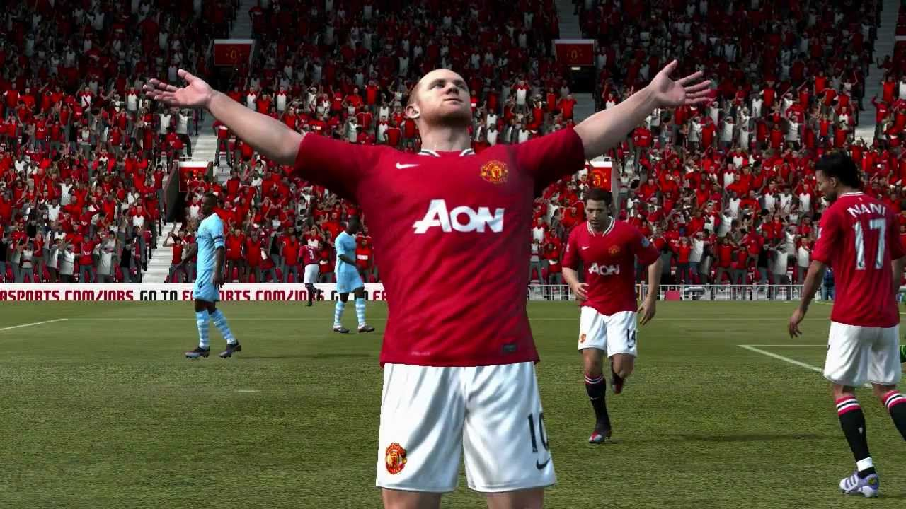 wayne rooney bicycle kick goal vs manchester city FIFA 12 ...