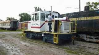 France Stone Co locomotive at the MadRiver & NKP Museum