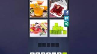 4 Bilder 1 Wort Lösung [Marmelade, Erdbeeren, Süßigkeiten, Würfel]