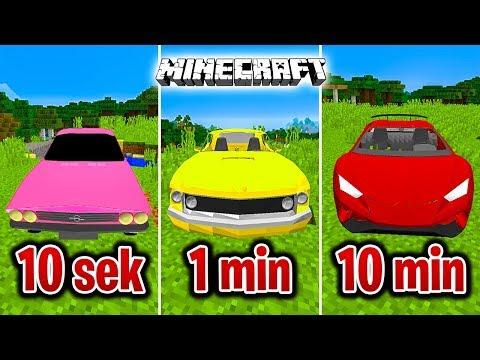 Minecraft BUDUJĘ SAMOCHÓD W 10 SEKUND, 1 MINUTĘ I 10 MINUT!