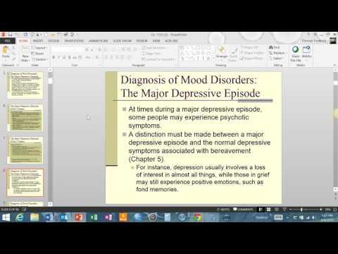 Week 6 PSY 346 Abnormal Psychology