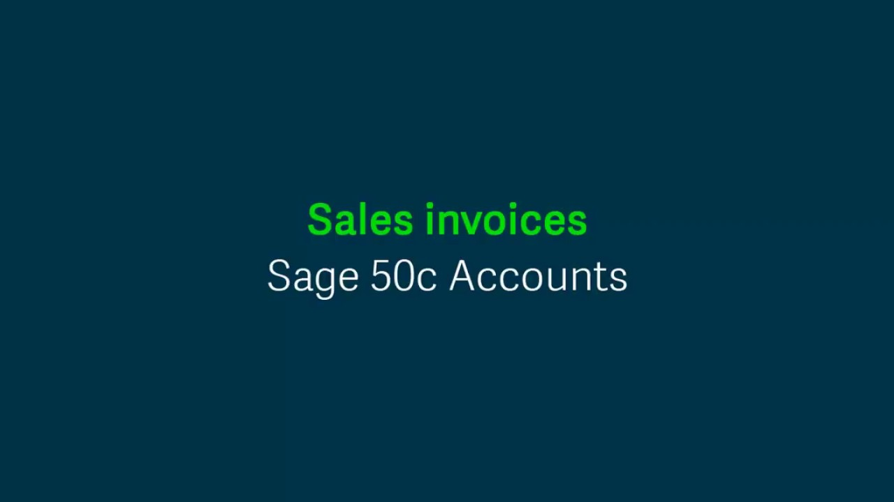 Sage 50c Accounts (UK) - Sales invoices