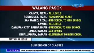 List of class suspensions in NCR as of July 8 due to heavy downpour