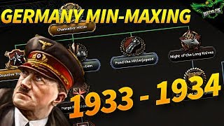 HOI4 Min-Maxing Germany 1933 - 1934 Economic Recovery (1933 Start Date with Expert AI Mods)