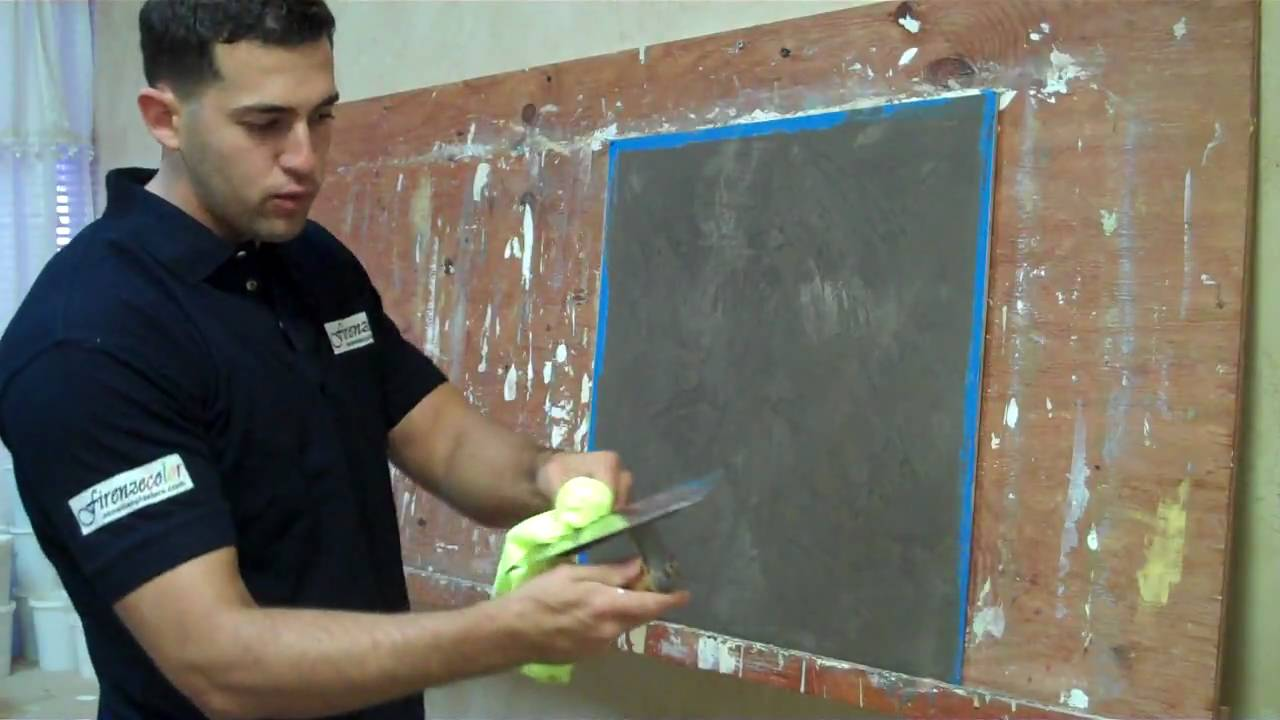 Venetian Plaster Old World With Colored Wax Youtube
