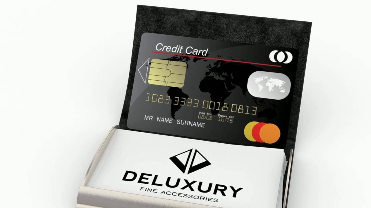 Business Card Holder & Case - Deluxury Fine Accessories - YouTube