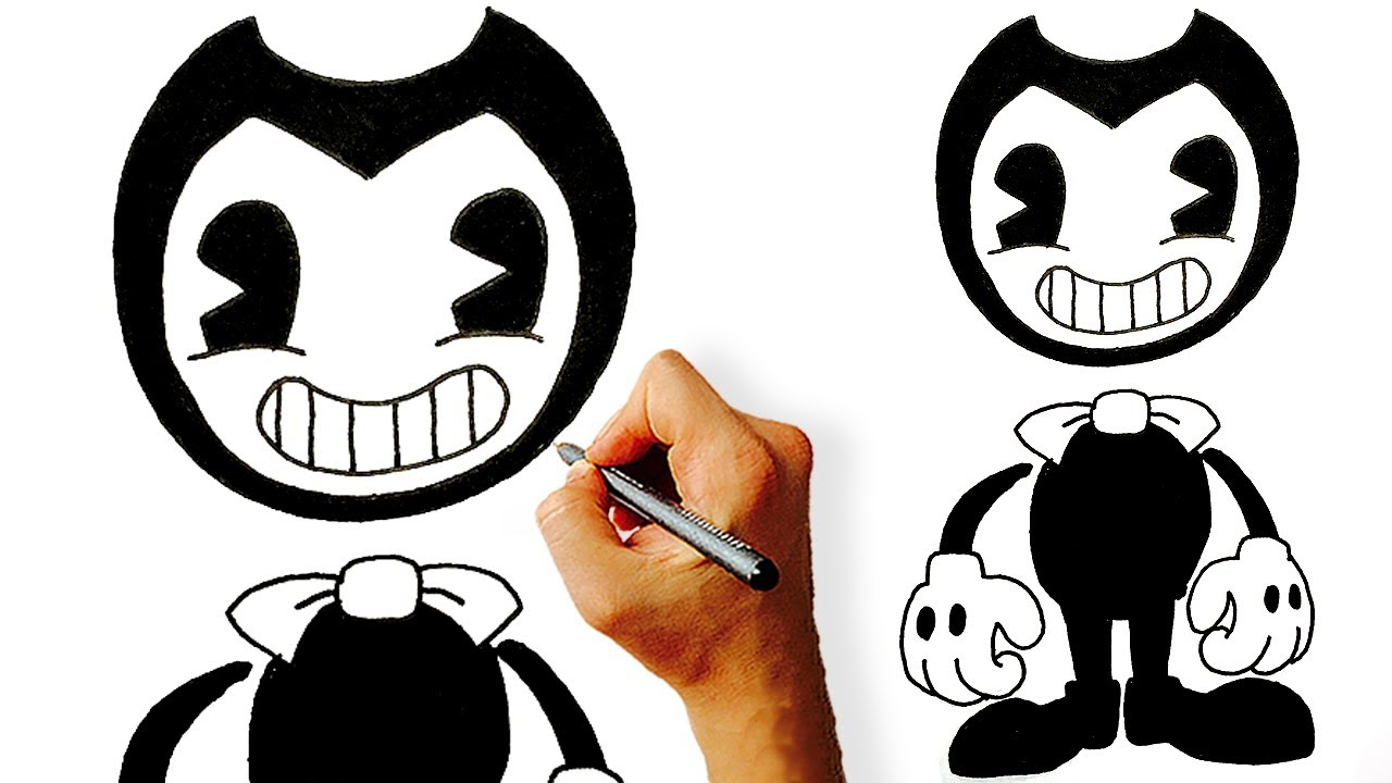 How to draw Bendy from Bendy and the Ink Machine step by ...