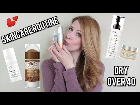 My FAVORITE Skincare Routine Ever! | DRY SKIN Affordable + High End