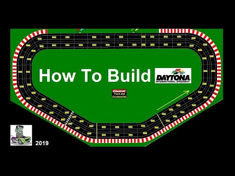 How To Build The Daytona International Speedway In Four Lanes Using Carrera Digital Track