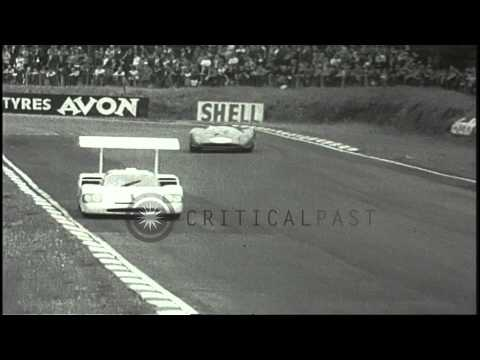 Philip Toll Hill, Jr driving a Chaparral race car wins a sports car race at the B...HD Stock Footage