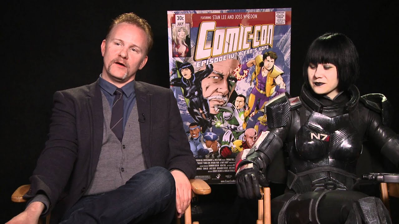 Comic Con Episode Iv A Fan S Hope Exclusive Morgan Spurlock And Commander Holly Conrad You